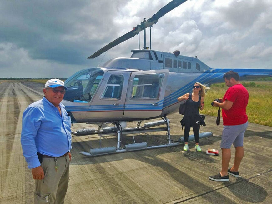 helicopter transfers in belize